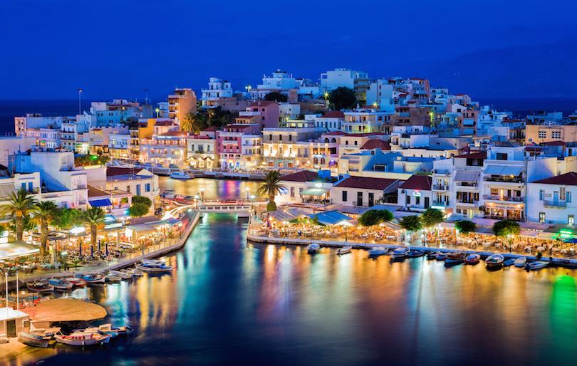 Crete Greece Night Time