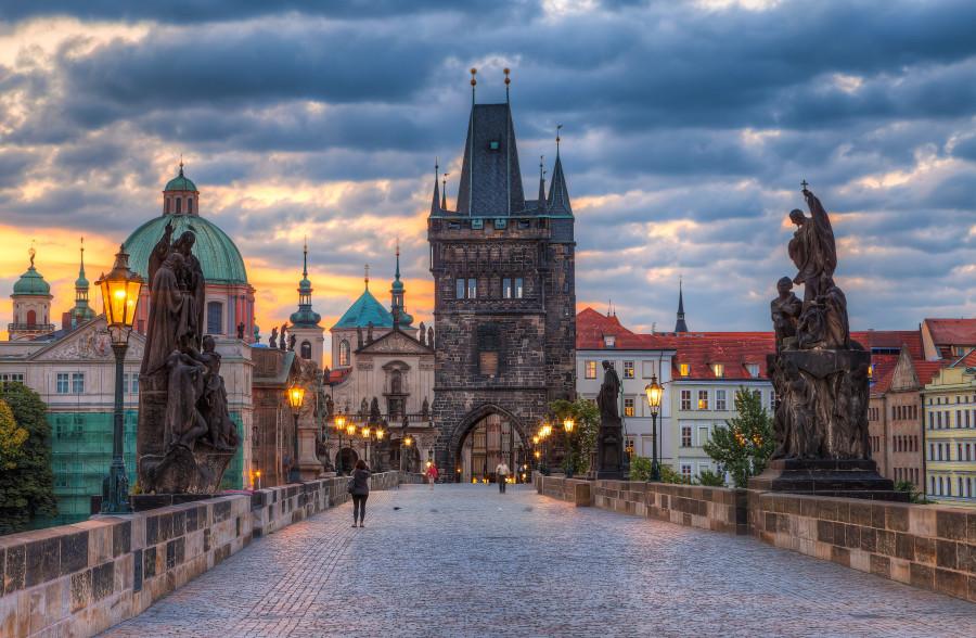 Evening Prague Czech Republic