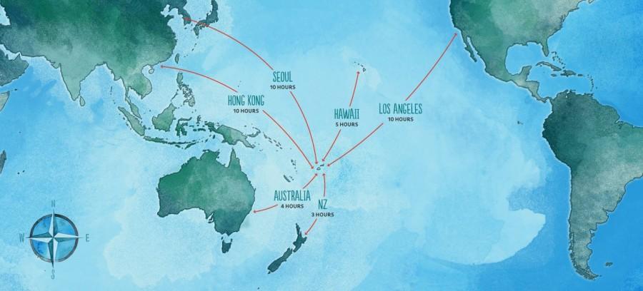Fiji Flight Times